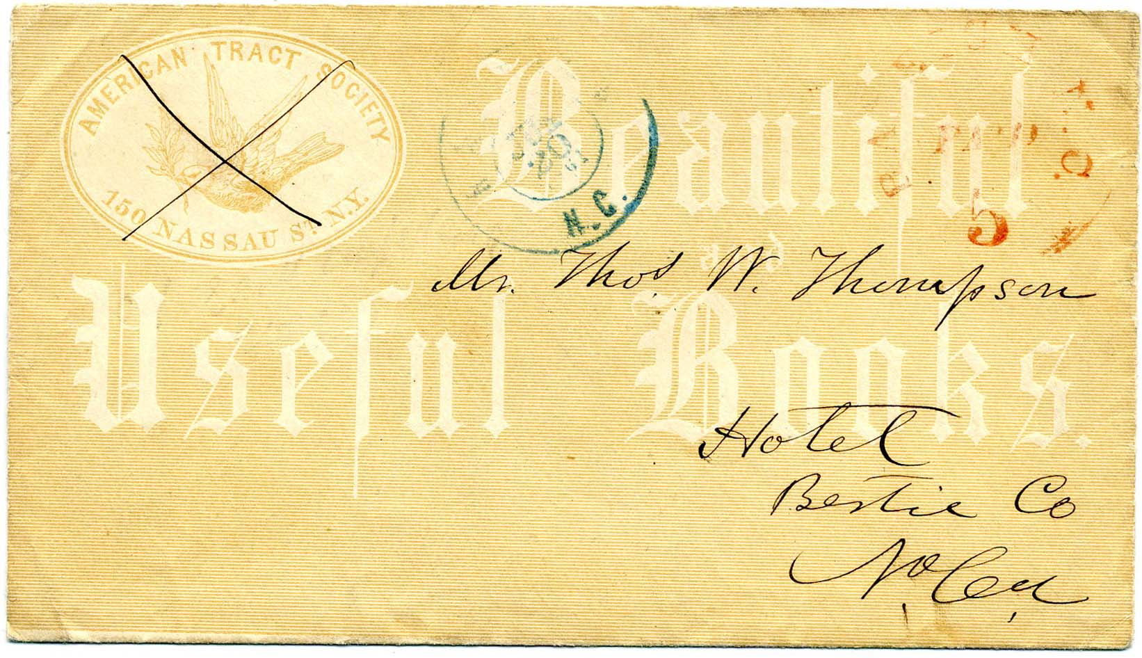 Items for Sale - Postmasters' Provisionals on Cover, Section Three